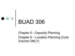 Chapter 5 - Capacity Planning