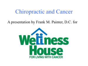 Chiropractic and Cancer PowerPoint Presentation