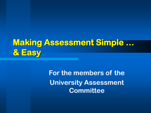 Making Assessment Simple & Easy