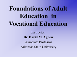Introduction to Adult Education