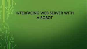 interfacing web server with a robot