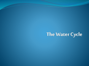 The Water Cycle - Moore Middle School