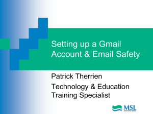 Creating a Gmail Account and Email Safety