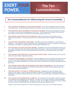 Ten Commandments for Influencing the General Assembly