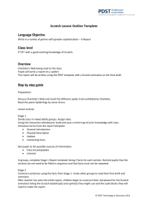 Scratch Lesson Outline Template
