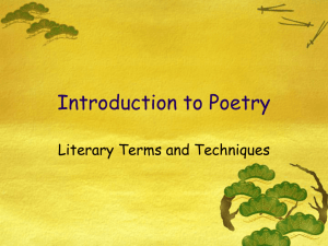 Introduction to Poetry - St. Agatha Catholic School