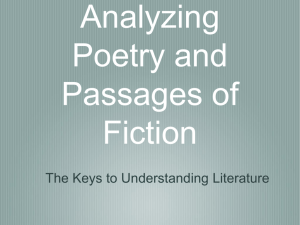 Close Reading: Analyzing Poetry and Passages of Fiction