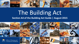 Building Act PowerPoint Presentation
