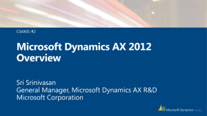CONV2012-Microsoft Dynamics AX 2012 Overview