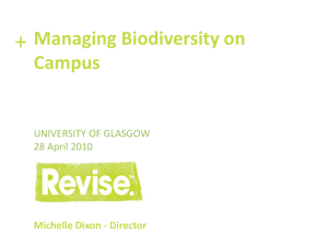 Biodiversity Management on Campus Presentation