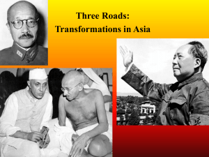 Three Roads - Transformations in Asia