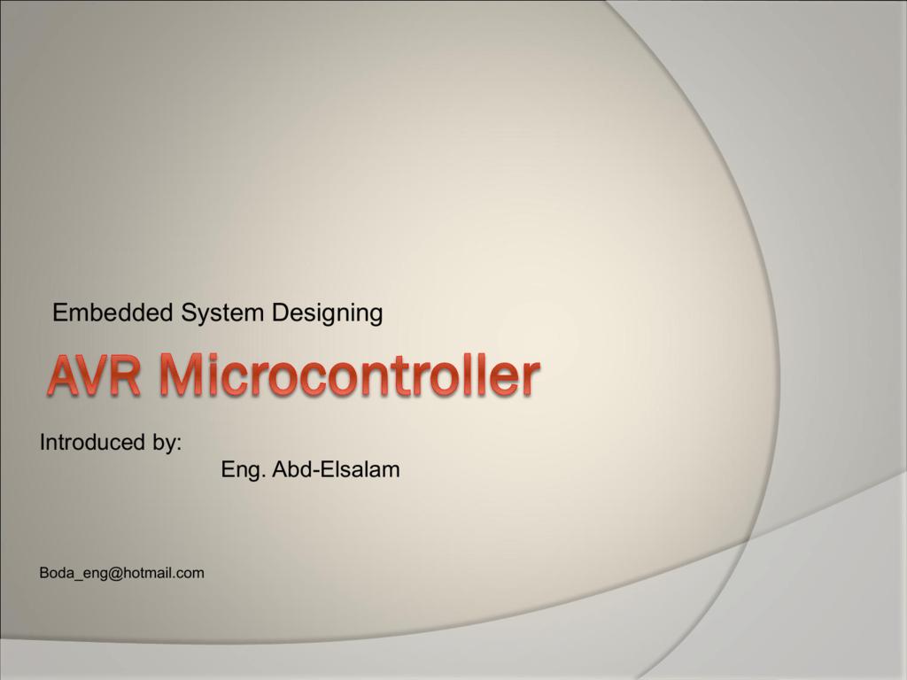 avr microcontroller ppt