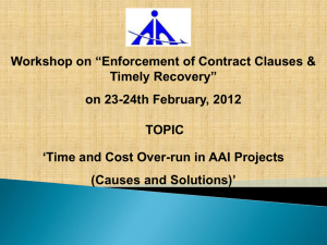 Time and Cost Over-run in AAI Projects