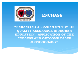enchasing albanian system of quality assurance in higher education
