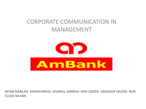 AM BANK - corporate communication in management