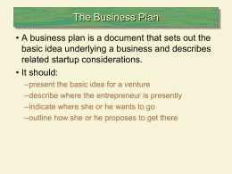 student Business Powerpoint