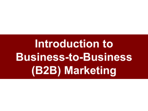 Introduction to Business-to