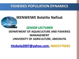 FIS 507 - The Federal University of Agriculture, Abeokuta