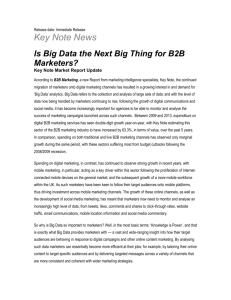 Is Big Data the Next Big Thing for B2B Marketers?