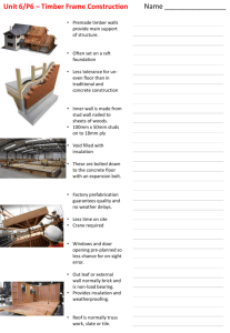 Student Notes on Timber Framed Construction
