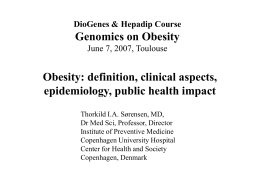 Heterogeneity in Causes and Development of the Obesity Epidemic