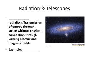 radiation: Transmission of energy through space without physical