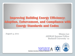 Improving Building Energy Efficiency: Adoption, Enforcement, and
