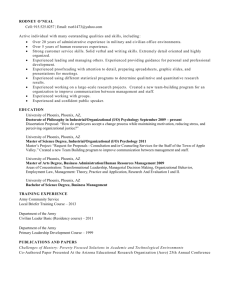 Curriculum vitae - Nuovo High Performance Business Solutions LLC