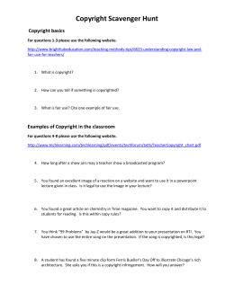 Scavenger Hunt word document