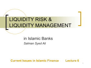 liquidity risk - State Bank of Pakistan