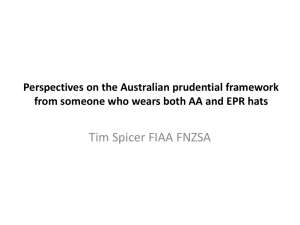 Perspectives on the Australian prudential framework from someone