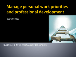 Develop and maintain professional competence