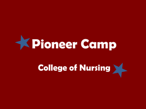 Pioneer Camp Presentation - Texas Woman's University