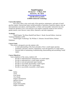 Small Engines Syllabus - Greenbush Middle River School District