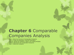 Chapter 6 Comparable Companies Analysis
