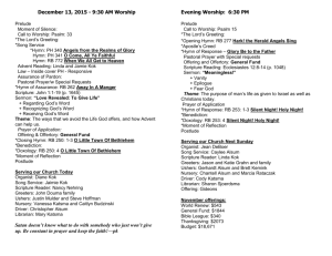 bulletin 12-13-15 - First Randolph Christian Reformed Church