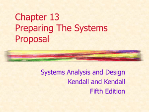 Chapter 13 Preparing The Systems Proposal