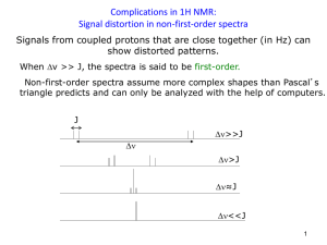 Complications in 1H NMR: Signal distortion in non-first
