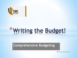 Budgeting That Works! - ACS Integration: Home