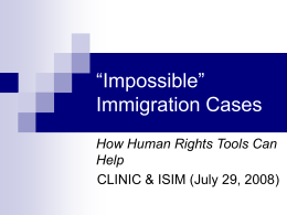 """Impossible"" Immigration Cases - Catholic Legal Immigration"