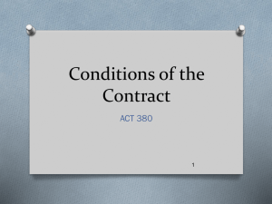 Conditions of the Contract