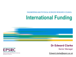 EPSRC Funding Opportunities for Research Visits to Japan