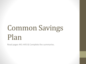 Common Savings Plan