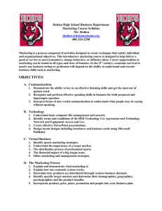 Marketing Syllabus - Helena High School