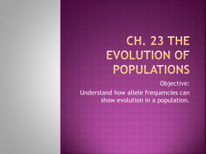 Ch 23 The Evolution of Populations notes
