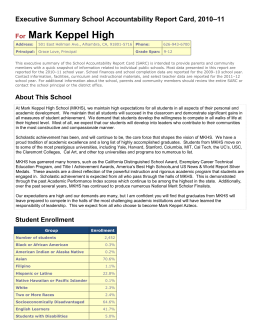 School Accountability Report Card - Alhambra Unified School District
