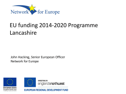 John Hacking Network for Europe - European Funding Programmes