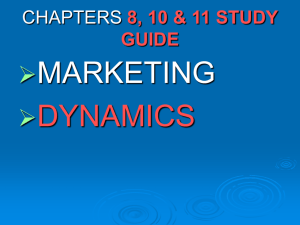 CHAPTERS 8, 10 & 11 STUDY GUIDE