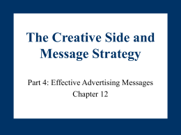 The Creative Side and Message Strategy