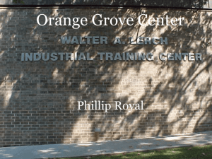 ITC Presentation - Orange Grove Center